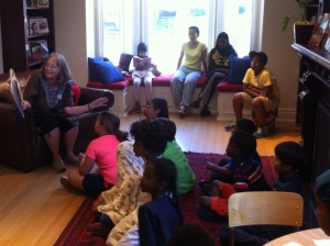 Story time at the Book Bank